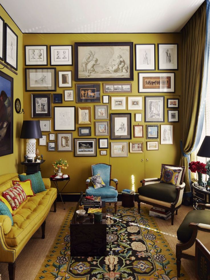 Bring Your Artwork Up To Trick The Eye And Expand Or Accentuate Height Of Room Like In Bill Brockschmidt Richard Dragisics New York Apartment