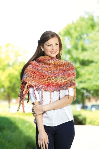 Featuring gorgeous yarns from fine weight to bulky, the eight diverse wraps in Tunisian Shawls will take you through the seasons in style and comfort. Their knit-look textures are created using Tunisi