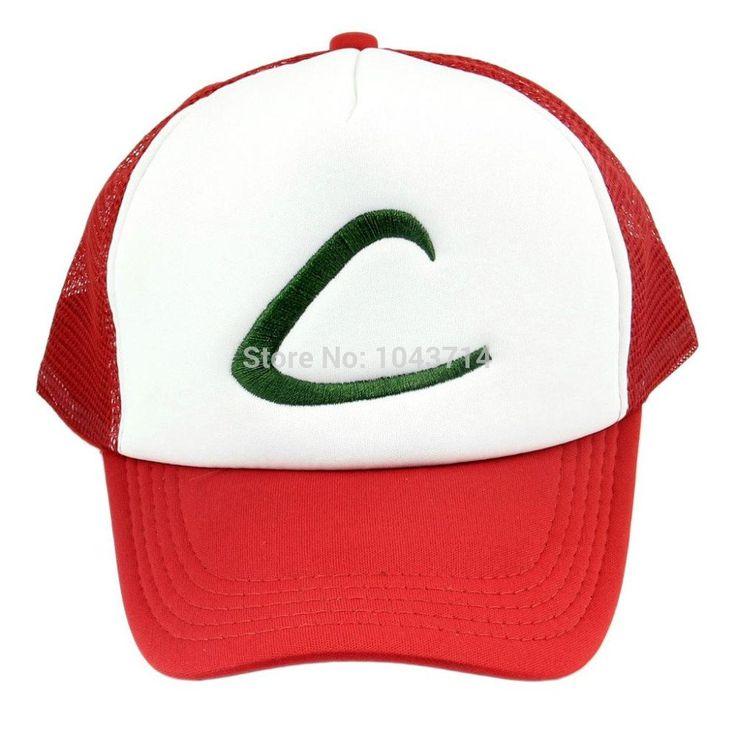 Anime Cospaly Hat Pokemon ASH KETCHUM Visor Cap Costume Play Baseball Hat