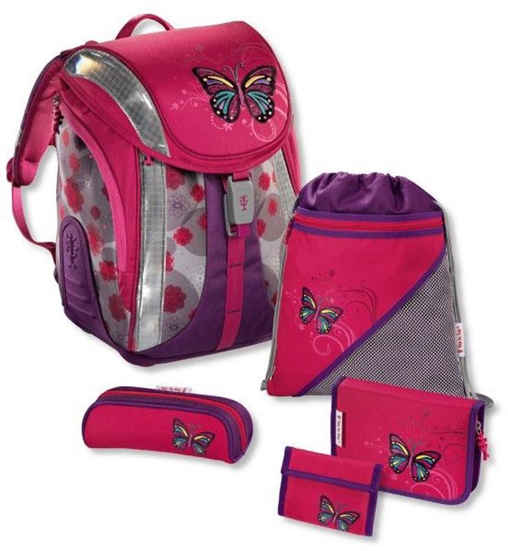 Step by Step Flexline Schulranzen-Set 5-tlg. Lovely Butterfly lovely butterfly