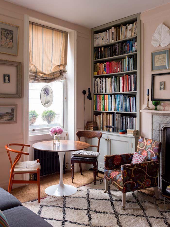 Лондонская штора: симбиоз роскоши и сдержанности для вашего интерьера http://happymodern.ru/londonskaya-shtora/ Для окна возле домашней библиотеки можно подобрать белее легкую, но темную ткань для шторы Смотри больше http://happymodern.ru/londonskaya-shtora/
