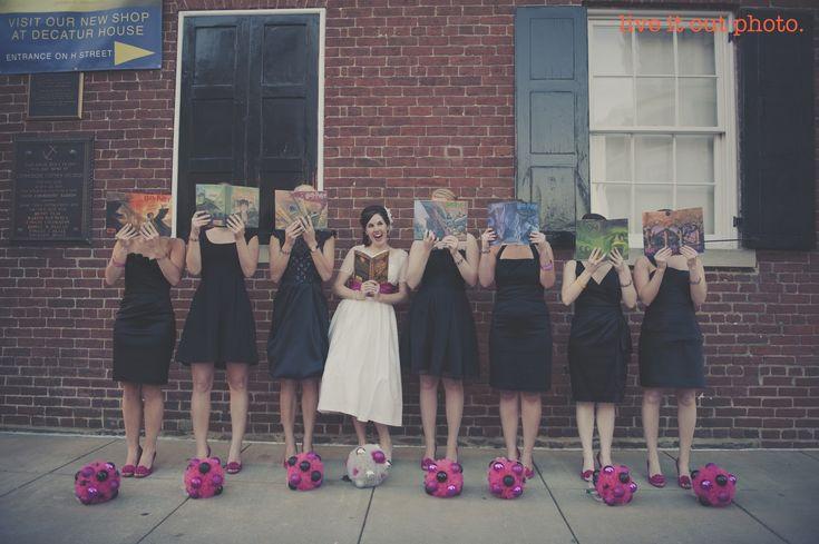 Harry Potter Bridesmaids #HarryPotterWedding: Wedding Parties, Potter Bridesmaid, Wedding Photo, Harry Potter Wedding, Theme Wedding, Bridesmaid Photo, Wedding Theme, Harry Potter Books, Photo Shoots