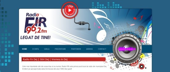 Web design & Development - RadioFir.ro