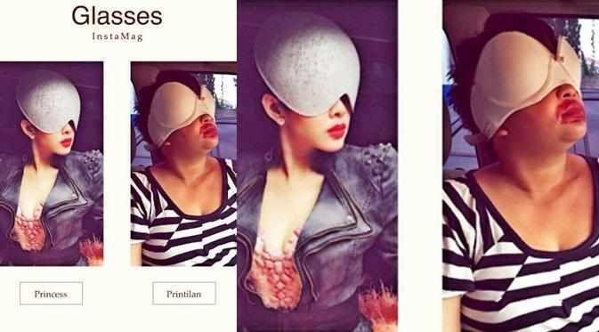 Heboh Meme Bra Topeng Perak Syahrini, Penutup Payudara Dikepalanya