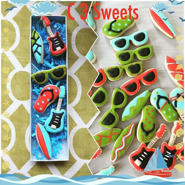Get your sun tan on at the beach with our 2 Piece Set of Beach Themed Cookie Cutters! This set...