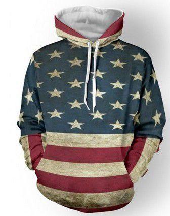 Moleton Bandeira Americana -  Frete Grátis