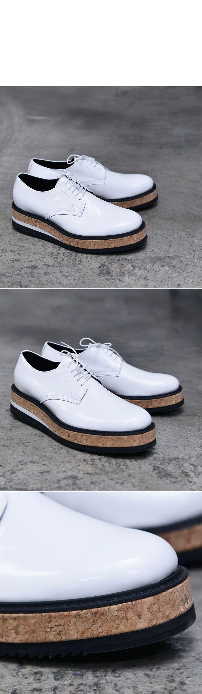 5cm Monster Heel White Creeper-Shoes 653 - GUYLOOK