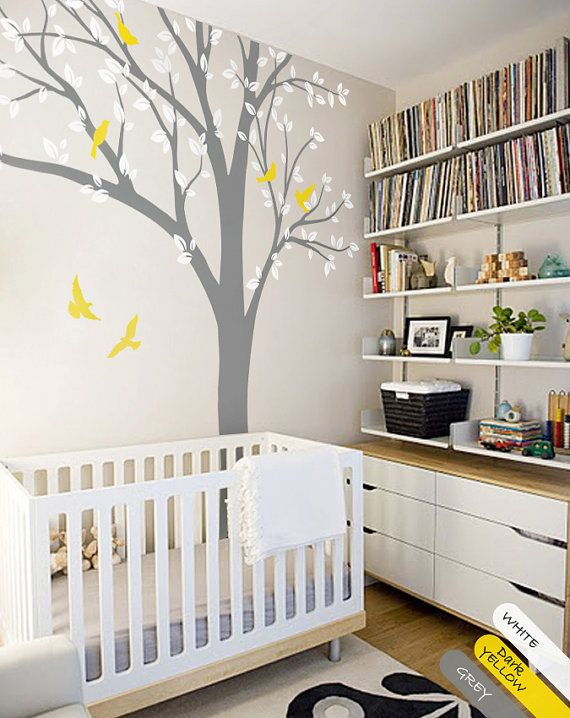 Large Tree Wall Decal Huge Tree wall decal Wall Mural Stickers Nursery Tree and Birds Wall Art Tattoo Nature Wall Decals Decor - 001 ----- WHATS