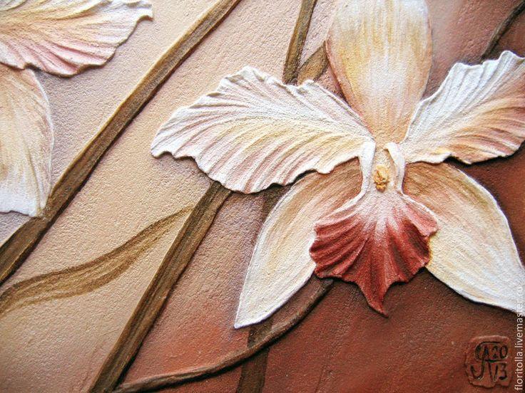 """""""Орхидеи"""" объемная фреска (детали). Автор - Флоритолла"""