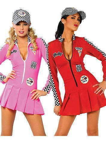 Racer Girl Pit Crew Grand Prix Formula 1 Fancy Dress Costume Outfit Size 8 10