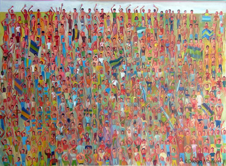 Tribuna, acrylic on canvas, 130 x 95 cm, 2014