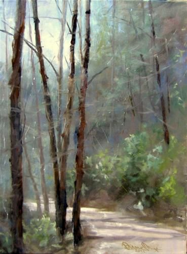 I love the light and atmosphere in this painting. I can feel the air !  Lovely.  By Dianne Mize
