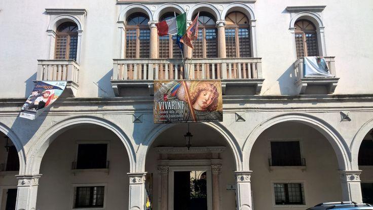 Facade of Palazzo Sarcinelli in Conegliano, where the exhibition I VIVARINI was held.