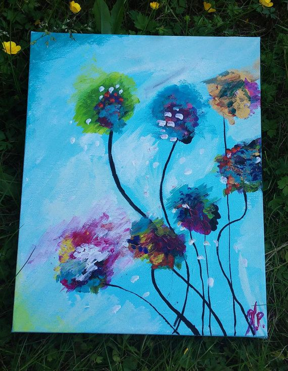 Ηandmade painting on canvas. Painted with acrylic by LoveFor