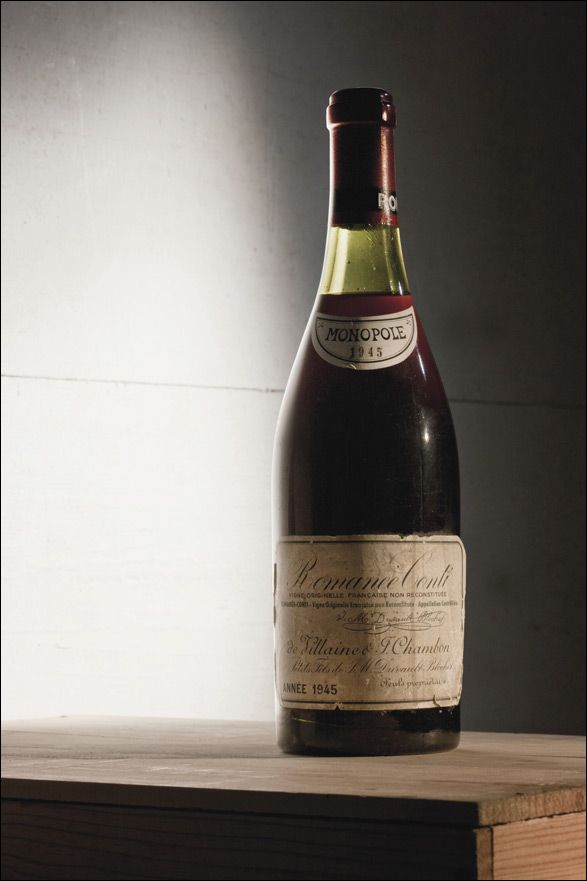 expensive wine bottle pictures | Most Expensive Red Wine Sold 1945 Romainee Conti | TwistedLifestyle ...