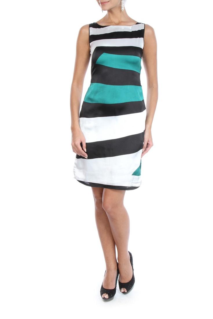 Multicolour Printed Satin Dress