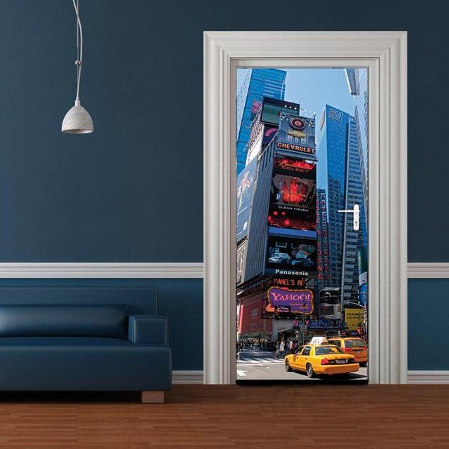 3 Piece Painting On Canvas Wall Art Nyc Street Lights New: 1000+ Ideas About Door Murals On Pinterest