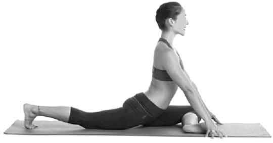 position finale de l'étirement du piriforme pour améliorer la souplesse de la hanche