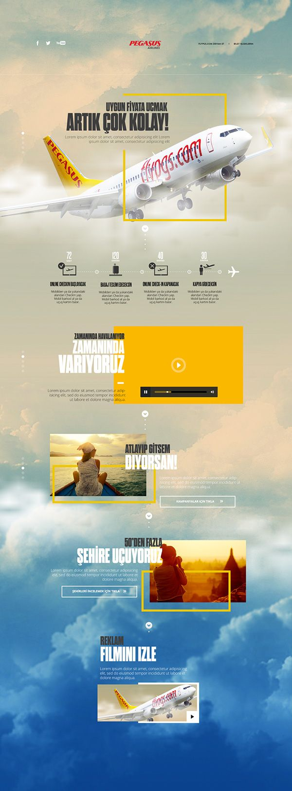 Landing Page for Pegasus on Behance