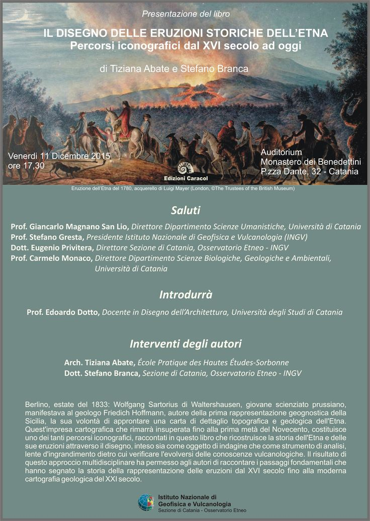"""Presentazione del libro """"Il disegno delle eruzioni storiche dell'Etna"""", di Tiziana Abate   Report Campania"""