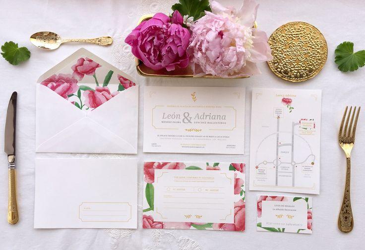'La Virginia' es la segunda colección de #papeleriadebodas de #Loveratory. Encierra la esencia de Andalucía alejándose de los tópicos. Flores, siesta, azahar, el rumor de una fuente, el blanco de las fachadas encaladas, el dorado del sol, la alegría, la calma, todo eso es 'La Virginia'. #weddingstationery #invitacionesdeboda2016 #invitacionesdeboda2017 #invitacionesdeboda #tarjetasdeboda #weddingpaper  #meserosdeboda #weddingbranding #brandingddeboda #sobresforrados #invitacionesdeacuarela