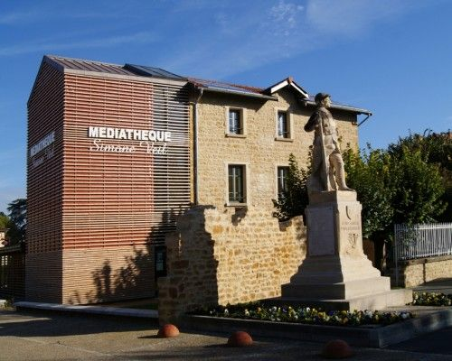 Bibliothèque Simone Veil - Jassans-Riottier - Prix national de la construction bois - Panorama - Médiathèque