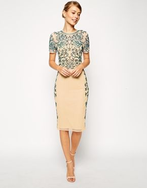 ASOS Baroque Embellished Midi Shift Dress
