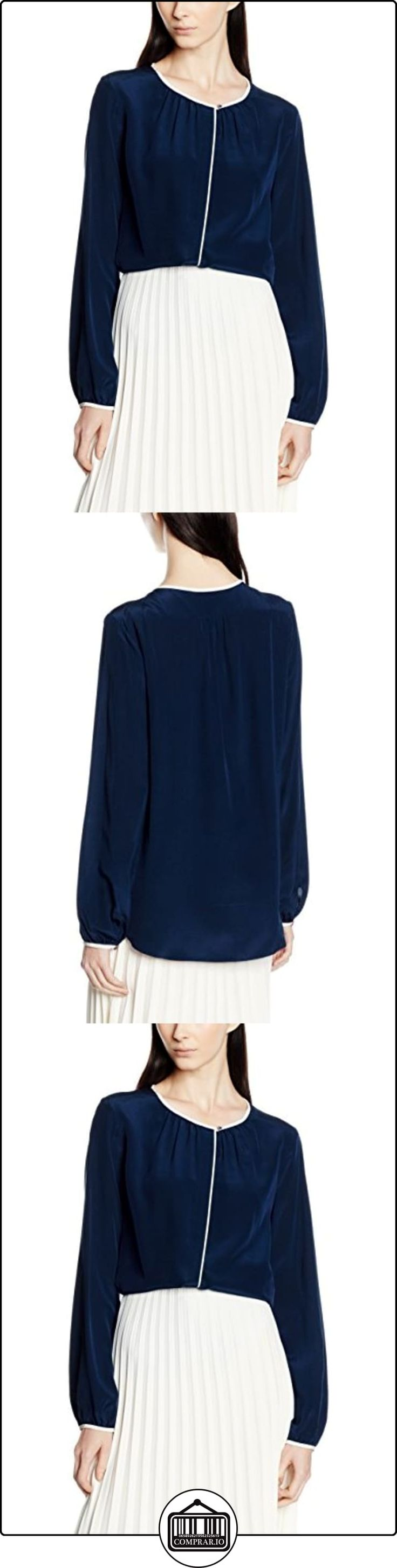 Tommy Hilfiger Renee Silk Blouse LS HG, Blusa para Mujer, Mehrfarbig (Navy Blazer/Eggnog 903), 38  ✿ Blusas y camisas ✿