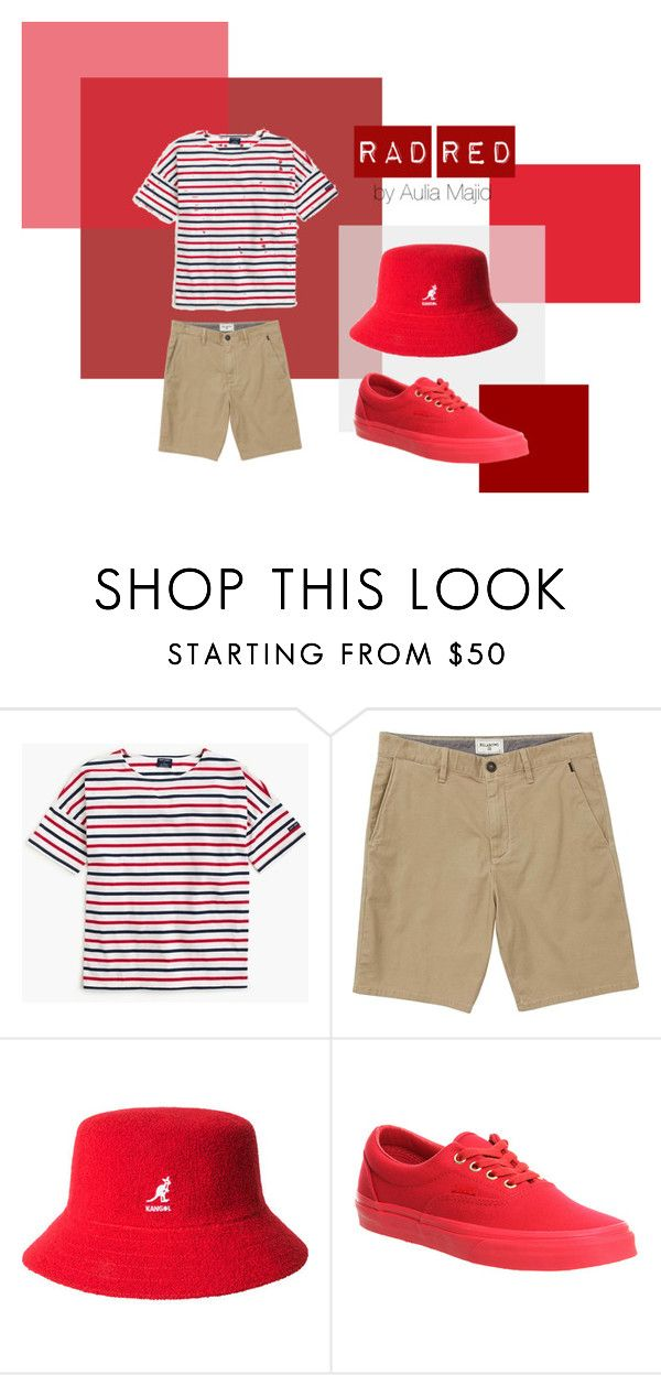 """Rad Red"" by ferranong on Polyvore featuring Saint James, Billabong, kangol and Vans"