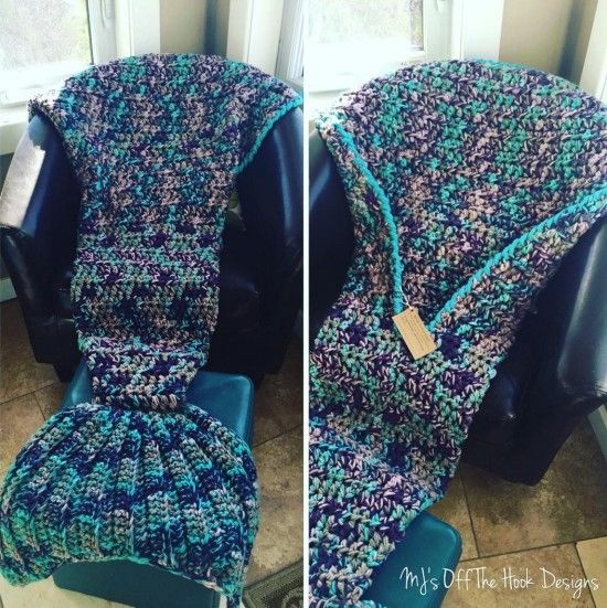 Crochet Mermaid Tail Afghan Blanket  - find lots of free patterns in our post. You can also purchase ready made.
