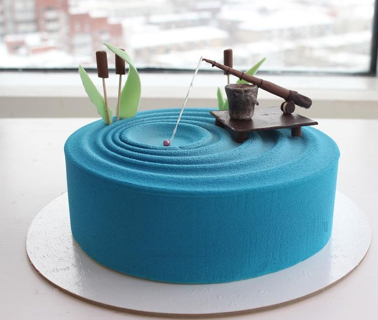 Salmon Birthday Cake: Fishing Cake By @sweetburg ...
