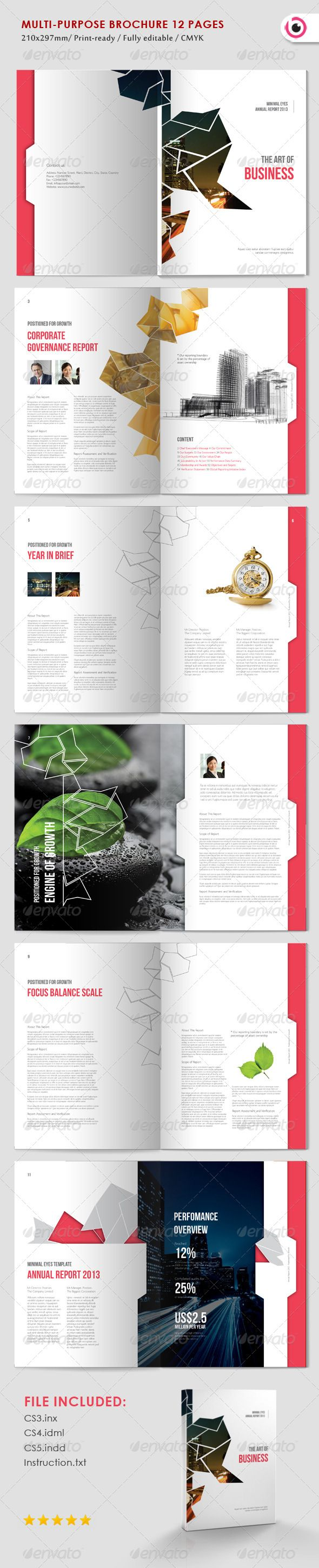 Multipurpose Abstract Brochure #GraphicRiver 12 pages InDesign