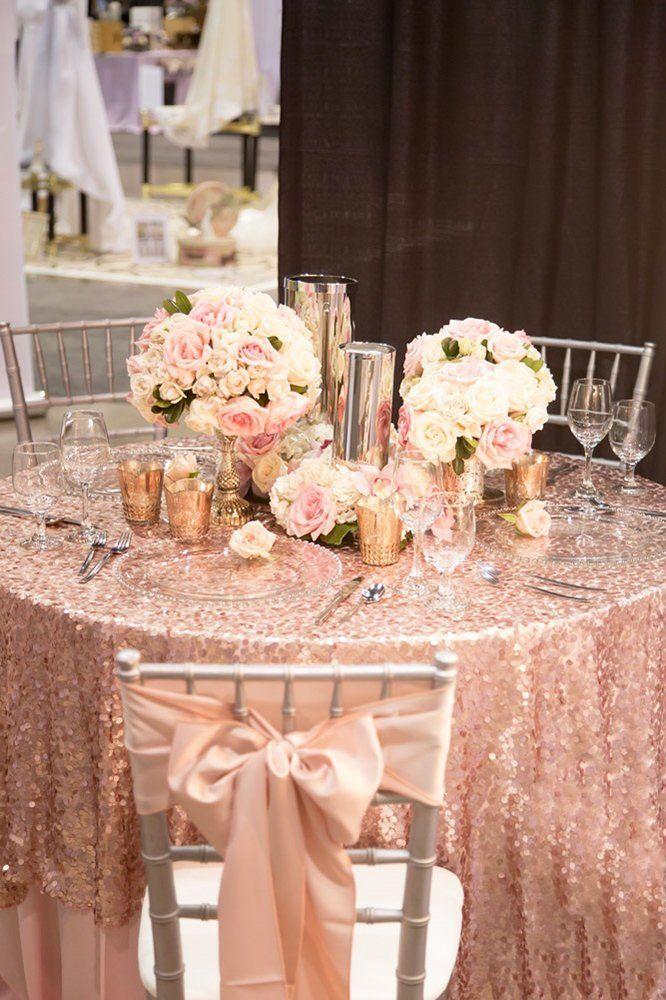 42 Glamorous Rose Gold Wedding Decor Ideas Gold Wedding