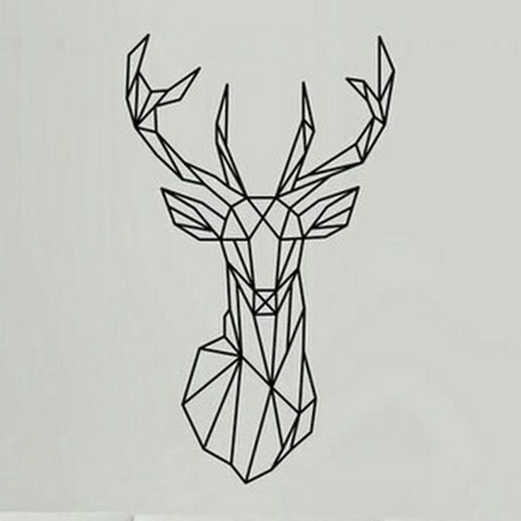 33 best geometric head tattoos images on pinterest tattoo designs rh pinterest co uk browning deer head tattoo designs deer head tattoo designs