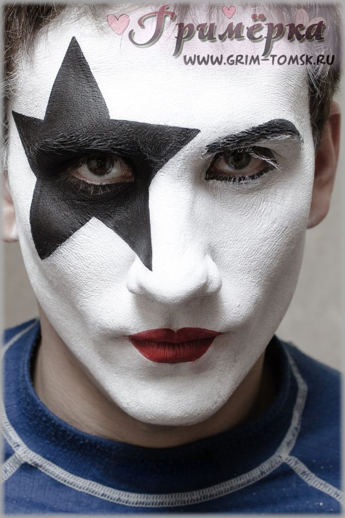 Аквагрим, грим, Группа KISS. Звёздное дитя (Пол Стэнли) face painting, make-up, Group KISS. (Paul Stanley)