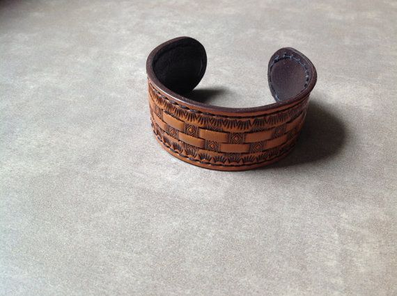 Ladies leather cuff braceletLadies leather by ThreeCreationLeather