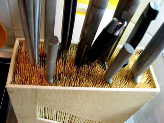 Knife Holder With Bamboo Skewers - WoodWorking Projects ...