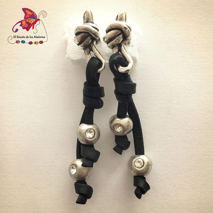 Hay quien hace nudos para encontrar objetos perdidos, a lo mejor con estos #pendientes te costará perderlos. #Abalorios #DIY #Estepona #CostaDelSol