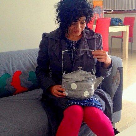 A papier mache teapot-bag by Papiera