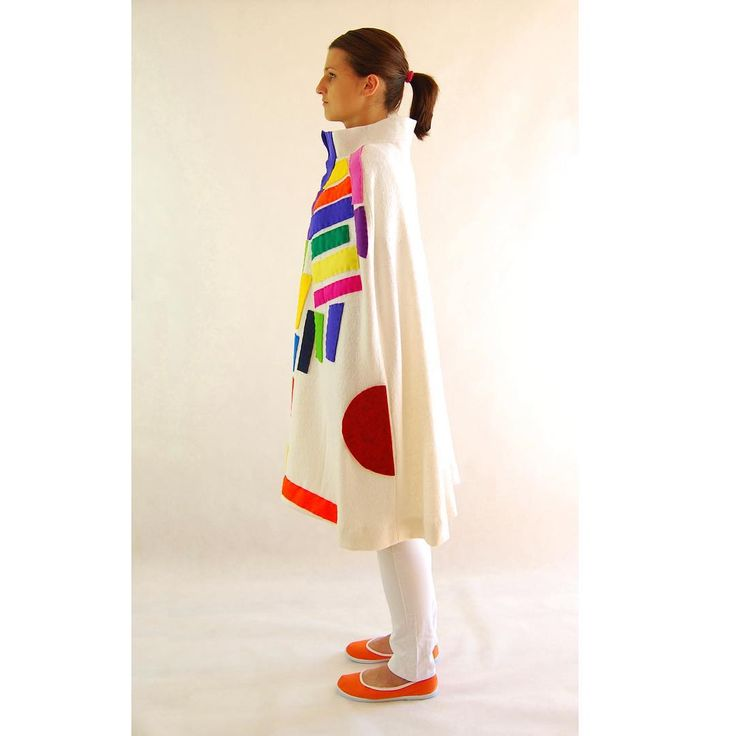Lets play with the colours 😄 Colour Play by QueenZoja #wool #poncho #cream #colourful #colour #color #play #geometrical #fashion #unique #clothes #collection #clothescollection #fairfashion #slowfashion #ecofashion #sew #sewing #handmade #queenzoja #work & #fun
