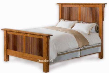 Shaker mission queen or king bed woodworking plans beds for Mission bed plans