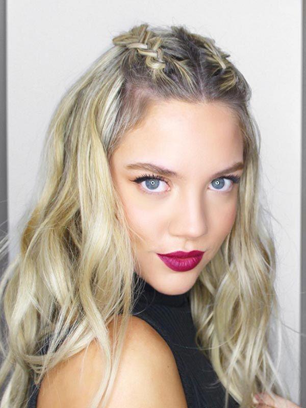 Trendiest Braided Hairstyles 2016: Mohawk Braid Half Up Hair