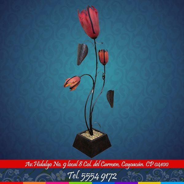 Conoce más de nuestras artesanías del estado de Guadalajara. Para mayor información comunícate al 55 54 91 72.  #guadalajara #artesanía #flor #color #rosa #hogar #decoración #florero