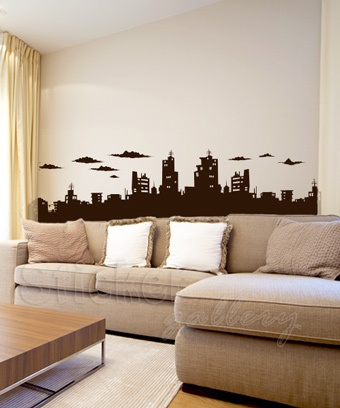Wall decal - City Roofs I