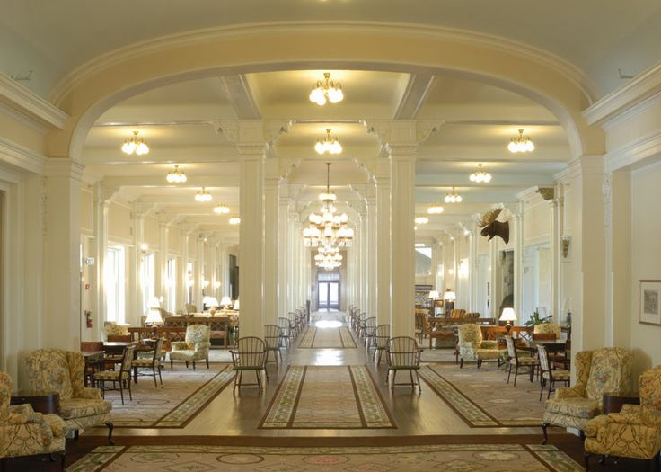 The Great Hall provides many comfortable settings to relax with your favorite book | Omni Mount Washington Hotel