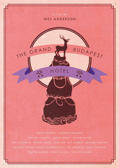 isobelmackenzieillustration:Film Poster WIPThe Grand Budapest Hotel - Wes Anderson