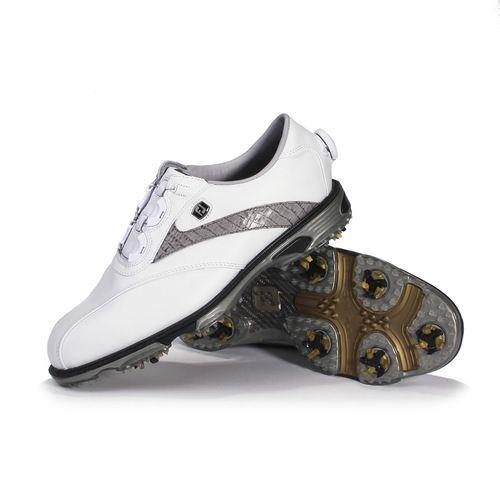 FootJoy DryJoys Tour Men's Golf Shoe White/Khaki Lizard