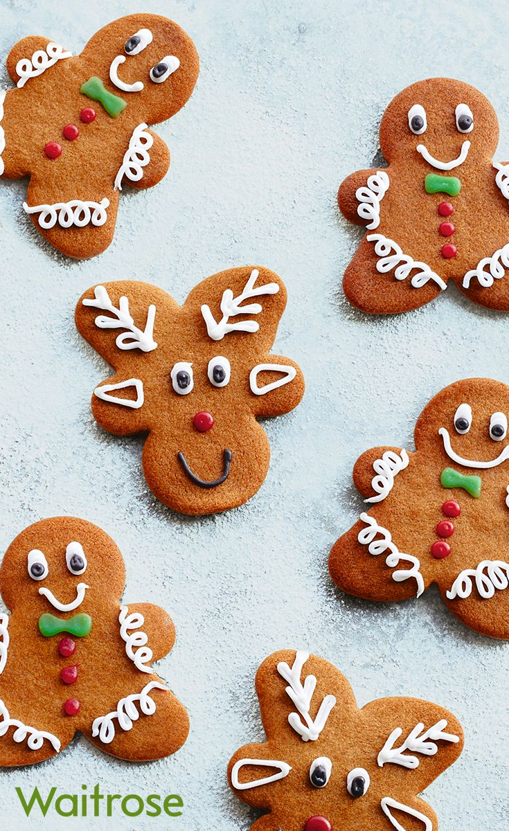 Cute little gingerbread men and reindeer are perfect gifts to give someone at Christmas. Top tip: just turn your gingerbread man upside down for the reindeer shape! See the full recipe on the Waitrose website.