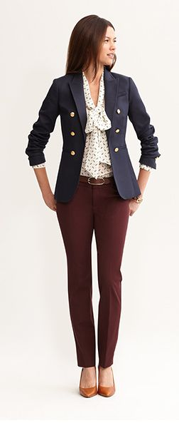 Sloan fit slim ankle pant in winter burgundy...yes please