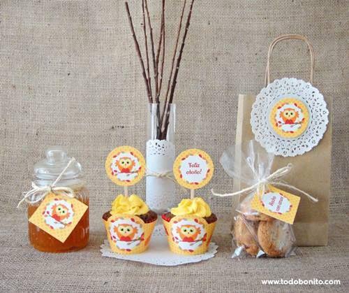 Imprimibles gratis para decorar fiestas de otoño - Fiestas y Cumples
